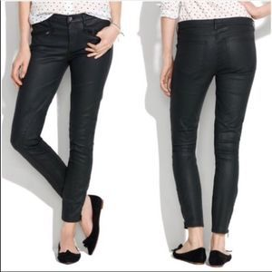 Madewell Coated Jeans with Zipper Details